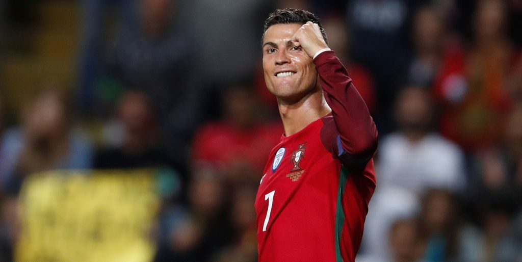 Cristiano Ronaldo bermain untuk Portugal di Ajang Piala Dunia Rusia 2018