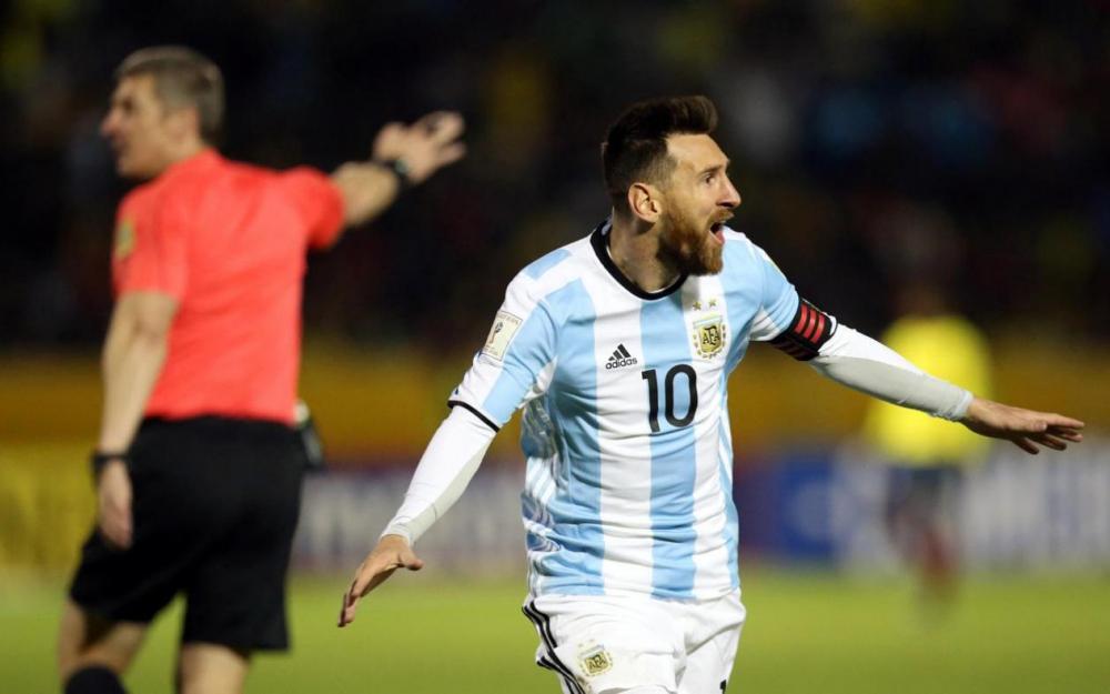 Lionel Messi Bermain untuk Argentina pada Ajang Piala Dunia Rusia 2018