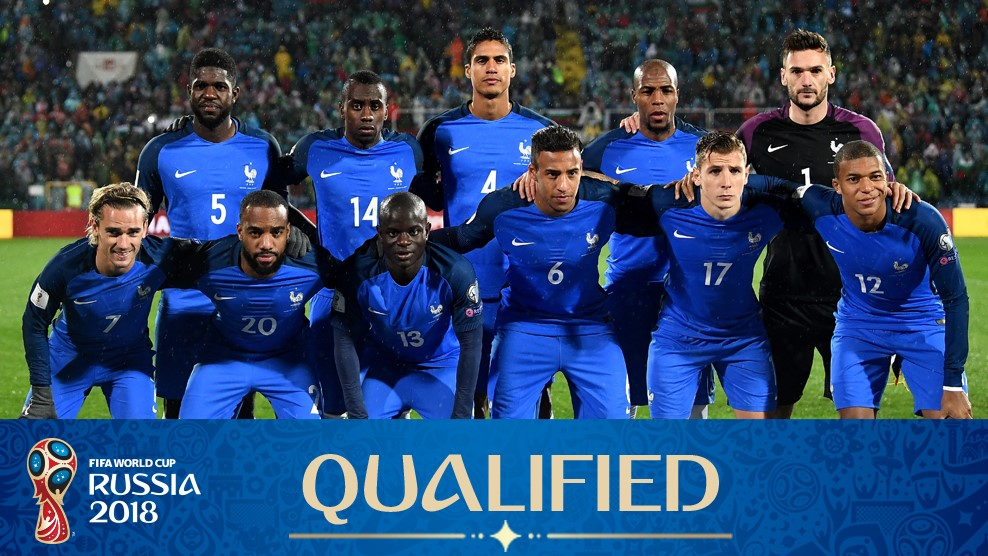 Foto Tim Sepakbola Internasional Prancis - Piala Dunia Rusia 2018