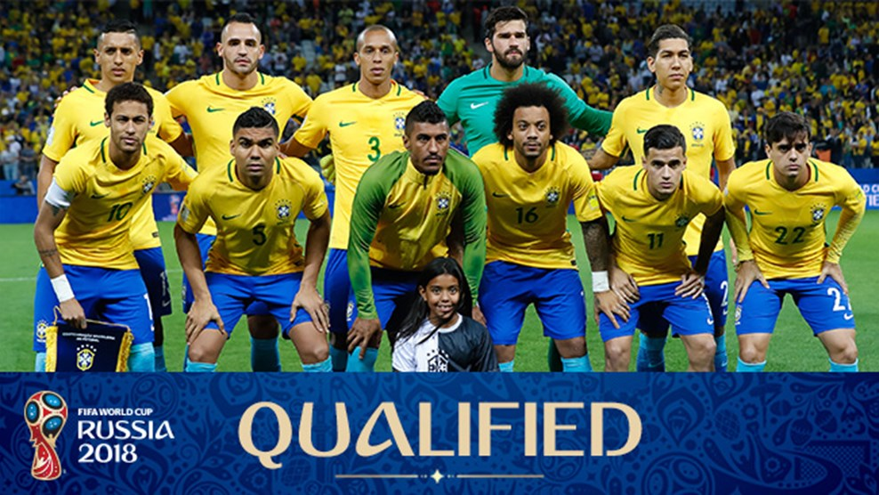 Foto Tim Sepakbola Internasional Brazil - Piala Dunia Rusia 2018