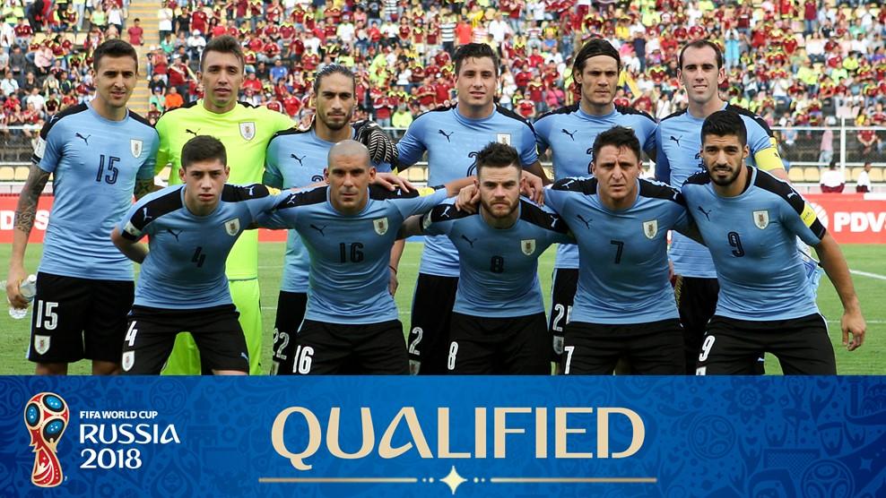 Foto Tim Sepakbola Internasional Uruguay - Piala Dunia Rusia 2018