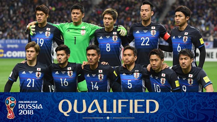 Foto Kualifikasi Tim Sepakbola Nasional Jepang pada Ajang Piala Dunia Rusia 2018