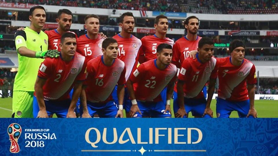 Foto Klub Sepakbola Internasional Kosta Rika - Piala Dunia Rusia 2018
