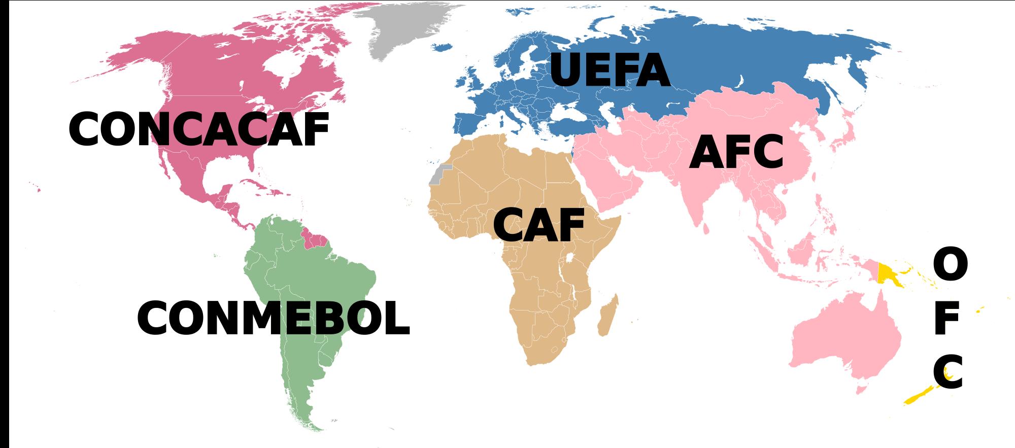 Peta Kekuatan Tim Peserta Piala Dunia Rusia 2018 Zona CONCACAF